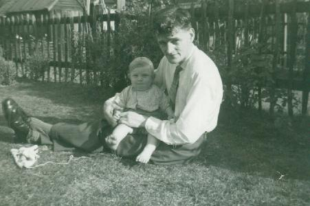 O'Connor with baby