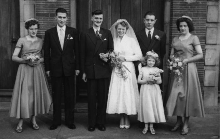 O'Connor wedding 1950s Birmingham